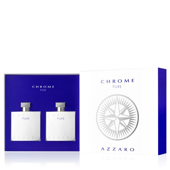 Kit Perfume Masculino Chrome Pure Azzaro Eau de Toilette 100ml + Pós Barba 100ml - Incolor