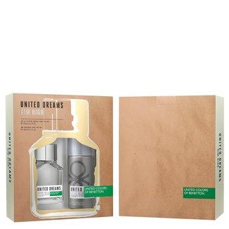 Kit Perfume Masculino United Dream Aim High Benetton Eau de Toilette 100ml + Desodorante 150ml