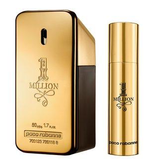 Kit Perfume Paco Rabanne 1 Million Masculino EDT 50ml + Travel Spray 10ml