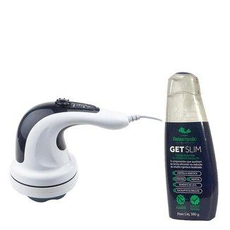 Kit Relaxbeauty Orbit Get Slim Massageador 127V + Creme