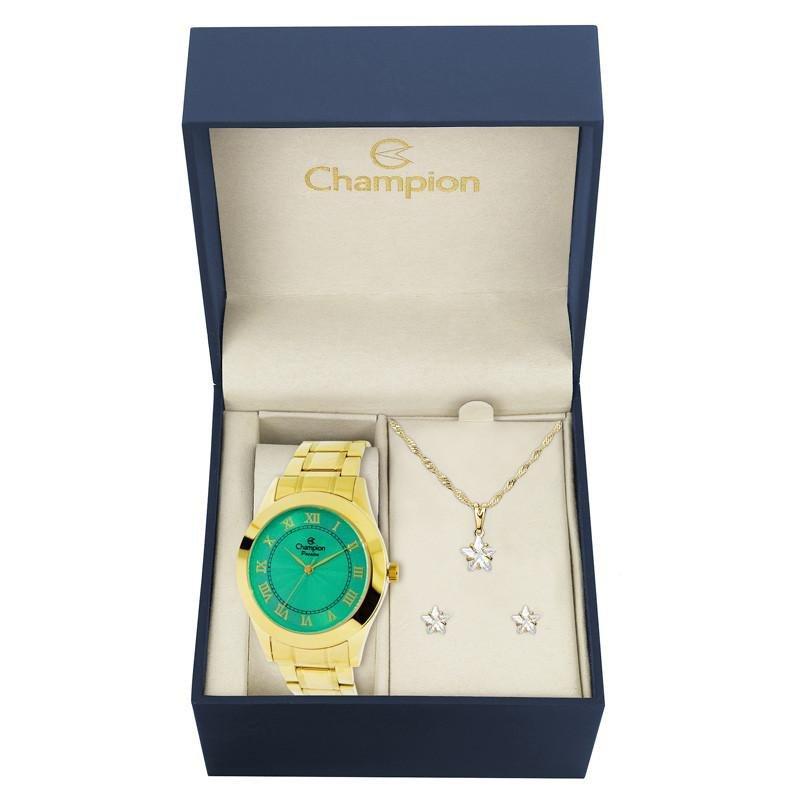 045667711a2 Kit Relógio Champion Feminino Passion - CH24544V - Dourado - Compre ...