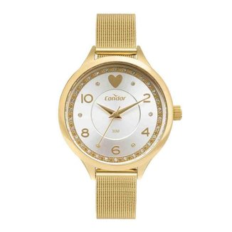 Kit Relógio Condor Feminino Dourado COPC21AECB/K4D