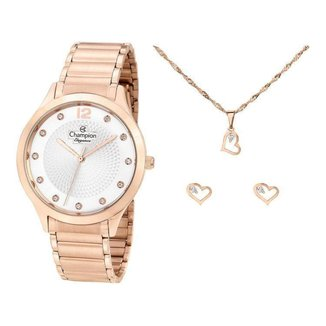 Kit Relógio Feminino Champion Analógico Elegance - CN25903E com Acessórios