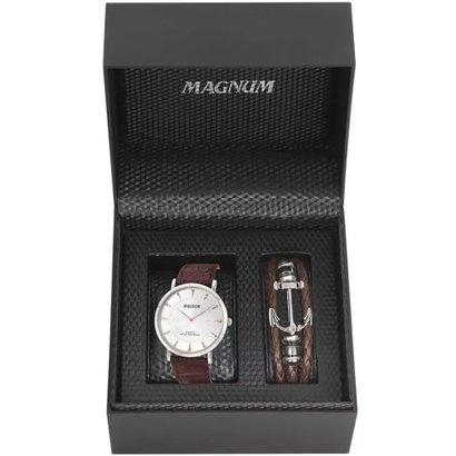 Kit Relógio Masculino Magnum Slim Ma21900d