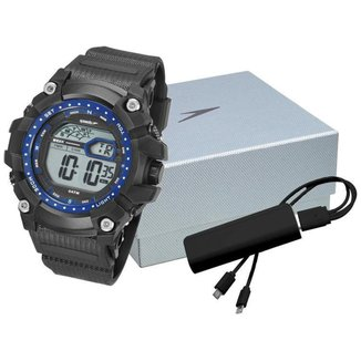 Kit Relógio Masculino Speedo Digital - 11004G0EVNP4K com Acessório