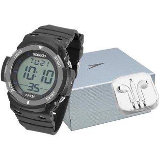 Kit Relógio Masculino Speedo Digital - 81119G0EKNP3K com Acessório