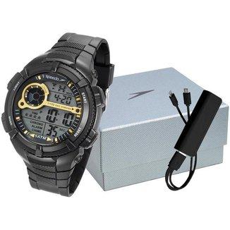 Kit Relógio Masculino Speedo Digital - 81130G0EVNP4K1 com Acessório