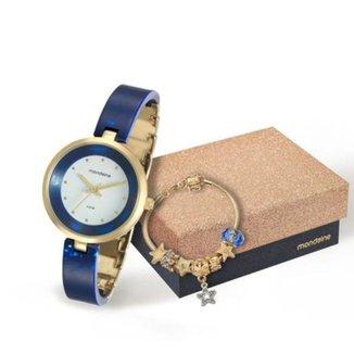 Kit Relógio Mondaine Com Pulseira Feminino