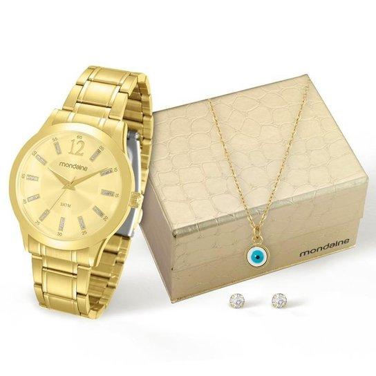 Kit Relógio Mondaine Feminino - 83328LPMKDE1K1 - Dourado