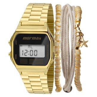 Kit Relógio Mormaii Vintage MOJH02AB/K4P + pulseira