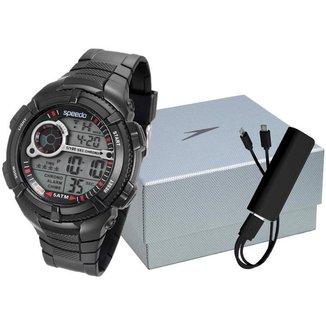 Kit Relógio Speedo Digital 81130G0EVNP1K1 com Acessórios Masculino
