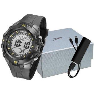 Kit Relógio Speedo Digital 81146G0EVNP1K1 com Acessórios Masculino
