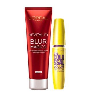 Kit Revitalift Blur L'Oréal Paris + The Colossal Volum' Express Maybelline Kit