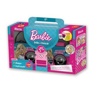 Kit Ricca Barbie Brilho e Proteção Shampoo 250ml + Condicionador 250ml