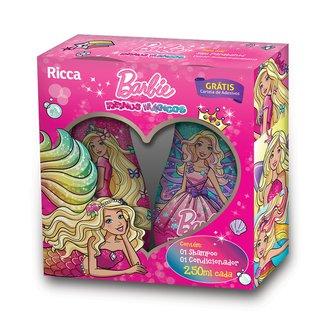 Kit Ricca Barbie Reinos Mágicos Shampoo 250ml + Condicionador 250ml