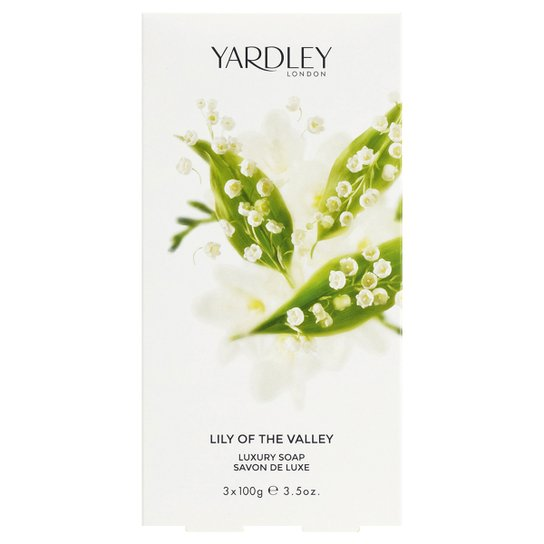 Kit Sabonete Lily of the Valley Yardley Luxury 100g com 3 unidades - Incolor