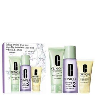 Kit Sabonete Liquido + Loção Clareadora 2 + Loção Hidratante Clinique Intro System Skin Tipo 2 Kit