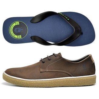 Kit Sapatênis +Chinelo Top Franca Shoes Masculino