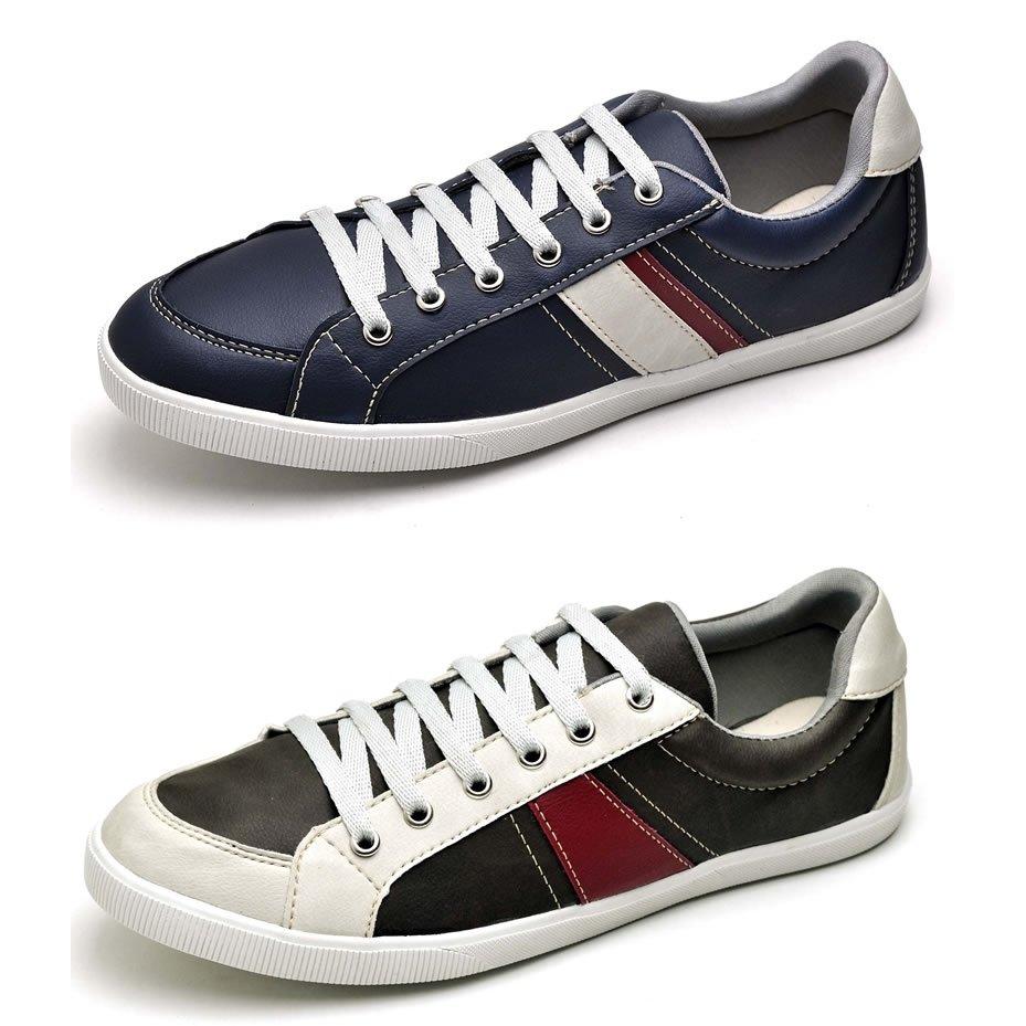 Sapatênis Top Shoes Preto Franca Shoes Kit Kit Sapatênis Preto Top Franca Cinza e Cvqrw0txqn