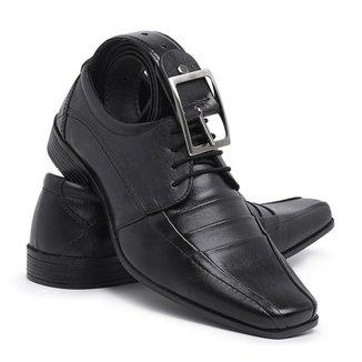 Kit Sapato +cinto Sandalo Meducci Pretocadarco