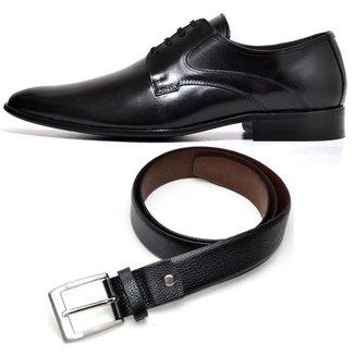 Kit Sapato Social Couro + Cinto Couro Top Franca Shoes Masculino