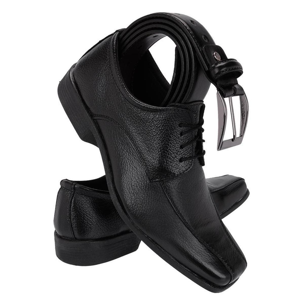 Kit Masculino Cinto Sapato Shoes Sapato Kit Preto Fox Social Couro 0qpdq ... 4aace0d46e796