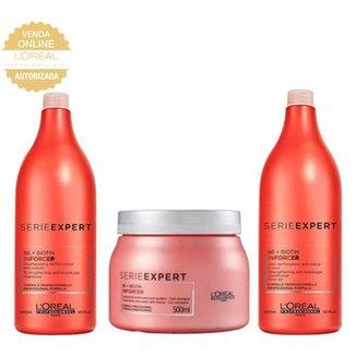 Kit Shampoo 1,5L + Condicionador 1,5L + Máscara L'Oréal Professionnel Inforcer Anti-Quebra