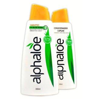 Kit Shampoo + Condicionador Alphaloe de Aloe Vera