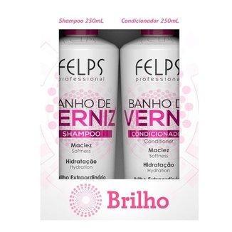 Kit Shampoo + Condicionador Felps Banho de Verniz Duo