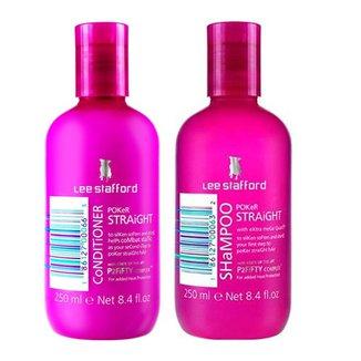 Kit Shampoo + Condicionador Lee Stafford Pocker Straight Kit