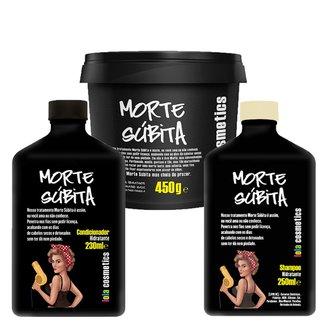 Kit Shampoo + Condicionador + Máscara Capilar Lola Cosmetics Morte Súbita Kit