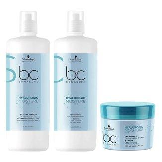 Kit Shampoo + Condicionador+ Máscara Schwarzkopf BC Hyaluronic Moisture Kick