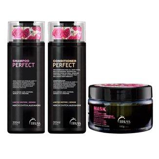 Kit Shampoo + Condicionador + Máscara Truss Professional Perfect