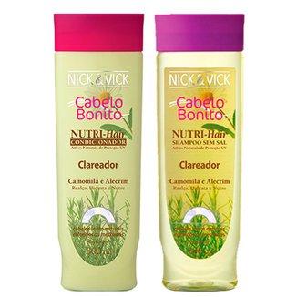 Kit Shampoo + Condicionador Nick & Vick Nutri-Hair Clareador Kit