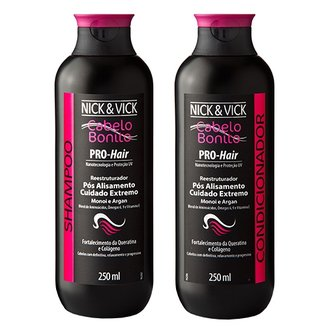 Kit Shampoo + Condicionador Nick & Vick Pro-Hair Reestruturador Kit