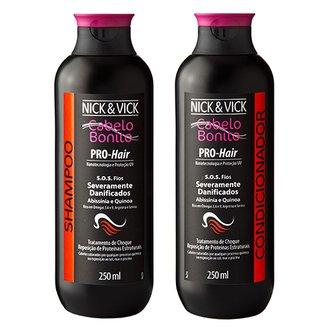 Kit Shampoo + Condicionador Nick & Vick Pro-Hair S.O.S. Fios Kit