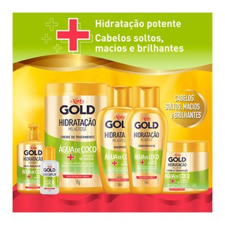 Kit Shampoo + Condicionador Niely Gold Hidratação Milagrosa Água de Coco Kit