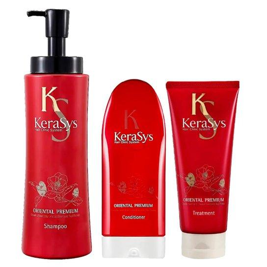 Kit Shampoo + Condicionador + Tratamento Kerasys Oriental Premium - Incolor