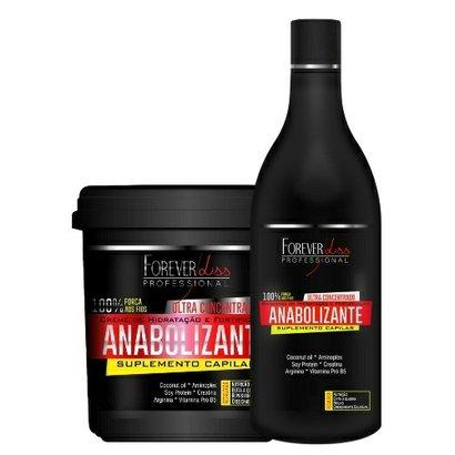 Kit Shampoo + Creme de Hidratação Forever Liss Professional Anabolizante Capilar Kit