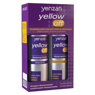 Kit Shampoo Desamarelador Yenzah Yellow Off 240ml + Condicionador Desamarelador 240ml