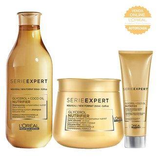 Kit Shampoo + Máscara + Leave-In L'Oréal Professionnel Nutrifier
