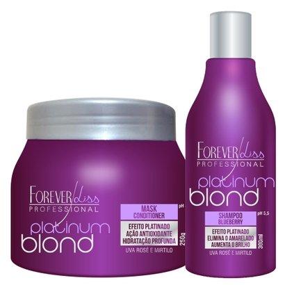 Kit Shampoo + Máscara Matizadora Forever Liss Professional Platinum Blond Kit