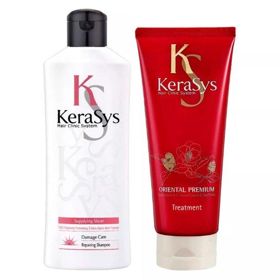 Kit Shampoo + Máscara Tratamento Kerasys Repairing - Incolor
