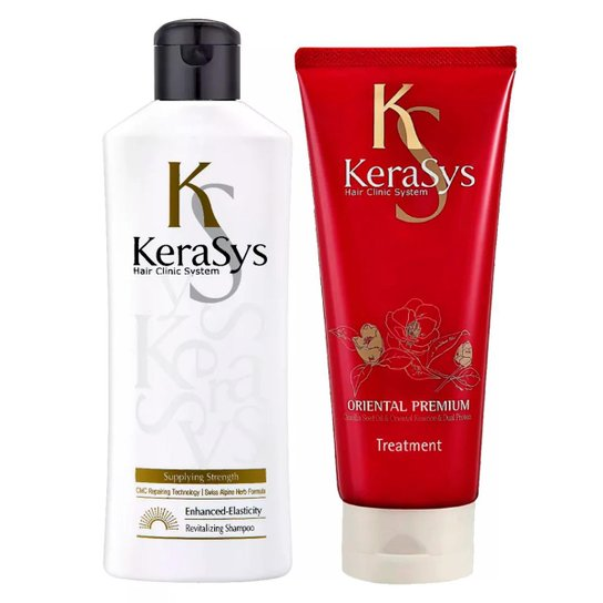 Kit Shampoo + Máscara Tratamento Kerasys Revitaling - Incolor