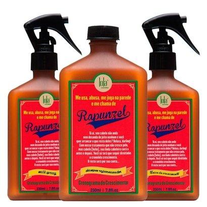 Kit Shampoo + Tratamento Antiqueda + Leave-in Lola Cosmetics Rapunzel Kit
