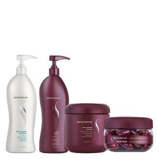 Kit Shampoo + Tratamento + Reconstrução +  Máscara Senscience Reconstrução de Loiros