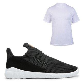 Kit Simon Vergan Tênis Sneaker + Camiseta Masculino
