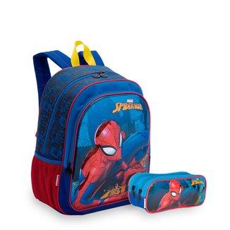 Kit Spiderman 19X Infantil Sestini - Mochila + Estojo