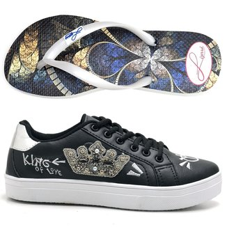 Kit Tênis Coroa + Chinelo Top Franca Shoes Feminino