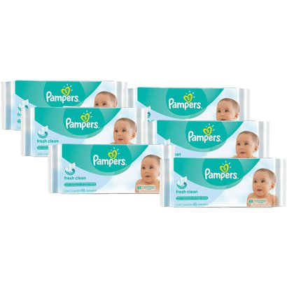 Kit Toalhinhas Umedecidas Pampers Fresh Clean